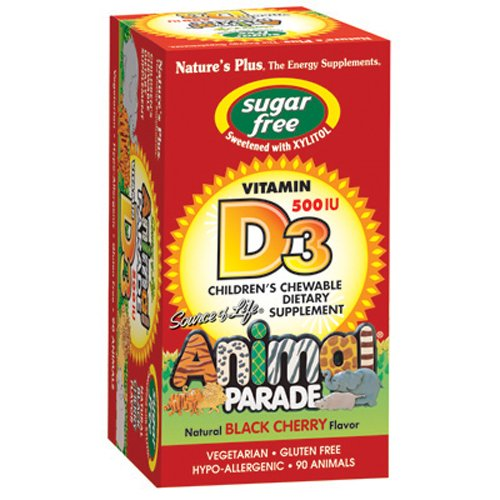 UPC 097467299238, Animal Parade Sugar Free Vitamin D3 500 IU-Black Cherry 90 Chewable Tablets
