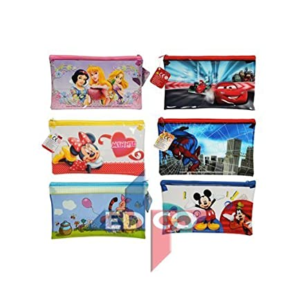 Grande o estuches Disney personajes surtidos - Minnie Mouse, princesa, aviones, Spiderman, Winnie