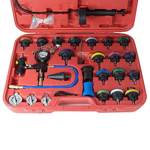 Zorvo 27 pcs Universal Radiator Pressure Tester and Vacuum Pump Type Cooling System Kit Refill Kit W/Case by zorvo (Image #1)