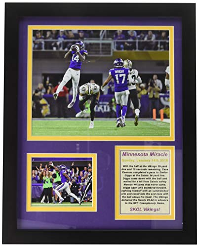 Minnesota Vikings Legends - Minnesota Vikings - Minnesota Miracle - NFC Divisional Win - Framed 12