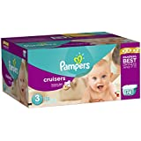 Pampers Cruisers Diapers Economy Plus Pack, Size 3, 174 Count (One Month Supply)