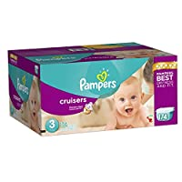 Pampers Cruisers Diapers Size 3 (16–28 lb), 174 Count