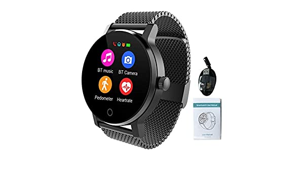 SMA-09 Smart Watch, Fitness Tracker Smartwatch impermeable IPS de ...