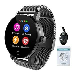 SMA-09 Smart Watch, Fitness Tracker Smartwatch impermeable IPS de ...