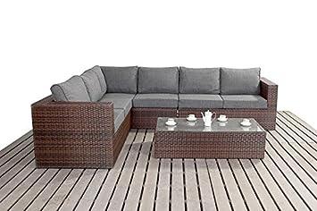Moderno Grande sofás rinconera de jardín, 3 modular 2 plazas ...