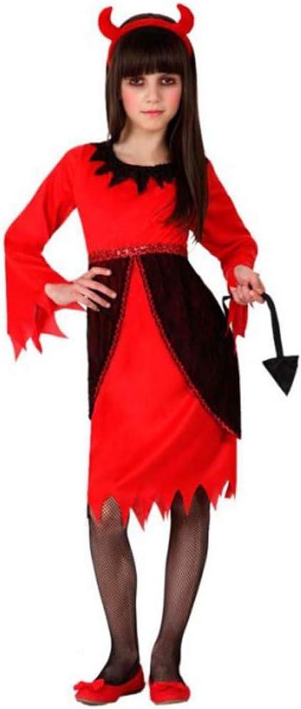 Cisne 2013, S.L. Disfraz para Halloween Infantil de Demonia Color Rojo y Negro. Talla 5-6 años de niño y niña. Cosplay Demonio Halloween.