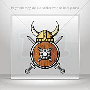 Stickers decal viking weapons decoration bike for 70 bike decoration