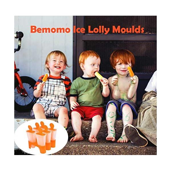 Bemomo - Stampi per ghiaccioli fai da te riutilizzabili, i bambini preferiscono i ghiaccioli con base, meraviglioso… 3 spesavip