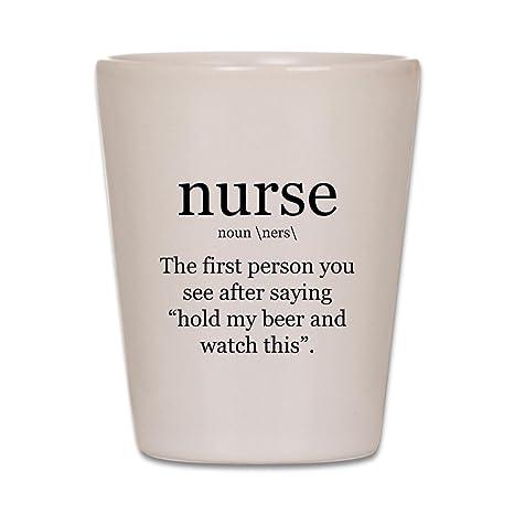 CafePress de enfermera definición – Vasos de chupito, único y con Vasos de chupito