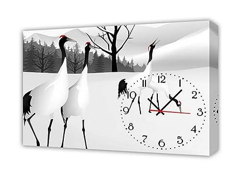 Orologi Da Parete In Tela : Home uk modern style tela pittura soggiorno hok orologio da parete