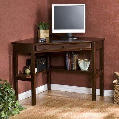 Karbach Corner Desk with Keyboard Tray - Espresso - 48' Cherry Top