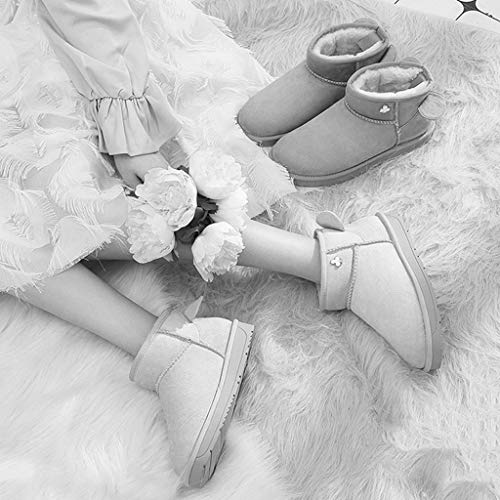 Cotone E color Impermeabili Fondo Outdoor Scarpe Brown Stivali Piatto b Velluto b Più Neve Stivaletti Pink Da Casual 40 Donna Antiscivolo Scarpette Calzature Size Camping 4Yqax