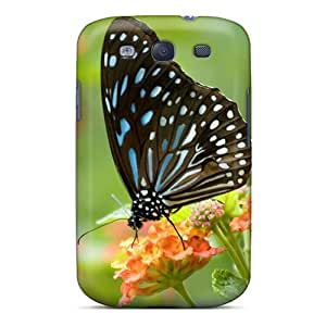 Premium Tpu Butterfly Closeup Cover Skin For Galaxy S3