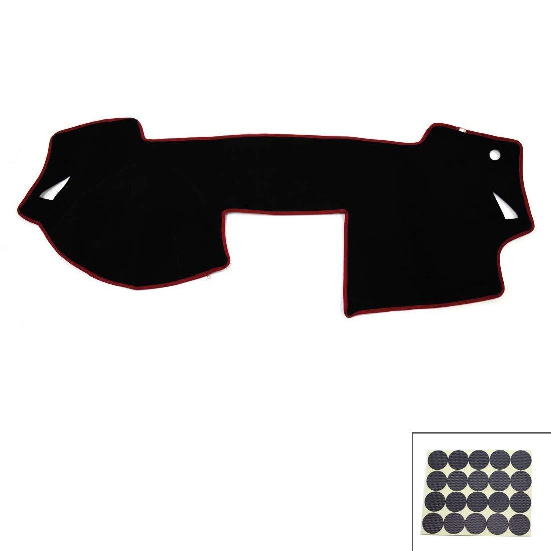 Autoly Black Car Inner Dash Dashboard Cover Shield Sun Carpet Pad for Mazda 6 Atenza