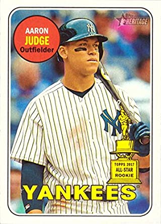 Amazoncom 2018 Topps Heritage 25 Aaron Judge Baseball Card