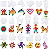 what is beadboard Chuangdi 18 Pieces 5 mm Fuse Beads Boards Clear Plastic Pegboards with 18 Pieces Colorful Cards for Kids Craft Supplies