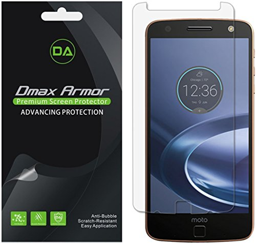Dmax Armor [6-Pack] for Motorola Moto Z Force Droid Screen Protector, Anti-Bubble High Definition Clear Shield