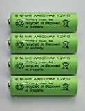 BRIGHT ZEAL Pack Of 4 AA High Capacity Battery Replacements for Solar Garden Lights 204 (1.2V, 600mAh) 1012
