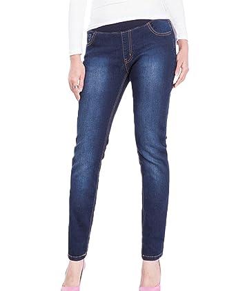 e75214e53ac5bb YuanDian Damen Herbst Winter Lässige Plus Size Hohe Taille Knöchel Stretch  Jeans Slim Fit Skinny Fashion Frauen Bleistift Denim Hosen: Amazon.de:  Bekleidung