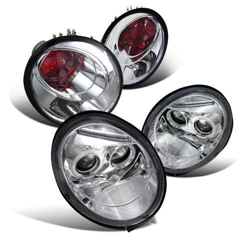 Beetle Chrome Projector Headlights Lights