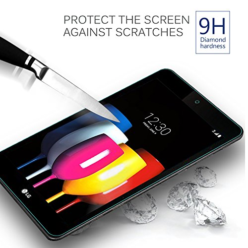 IVSO LG G Pad F2 8.0 Sprint (LK460)/T-Mobile LG G Pad X2 8.0 PLUS Tempered-Glass Screen Protector, [No-Bubble] for LG GPad F2 8.0 Sprint Model LK460 8-Inch Android Tablet 2017 Release (2pcs) by IVSO (Image #4)