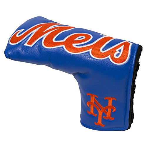 Team Golf MLB New York Mets Golf Club Vintage Blade Putter Headcover, Form Fitting Design, Fits Scotty Cameron, Taylormade, Odyssey, Titleist, Ping, - New Ping Putter