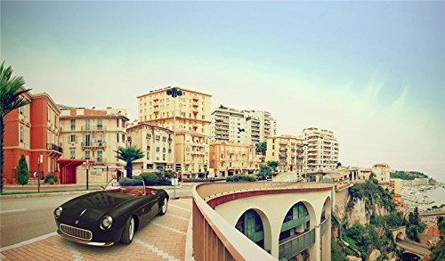 - monte-carlo-monaco-city-street-old-car. wallpaper wall stickers wall murals quote printing art vinyl decal sticker