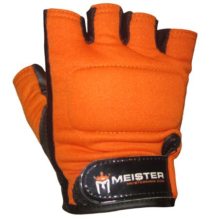 Meister Pro Weight Lifting & Workout Gloves (OR-L)