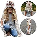 b05d7eb1f3d6 MiniGreen Bonnet Hiver Bonnet de Laine 3D Motif de Licorne Chapeaux  Casquette Tricot Capuche Cagoule Cache