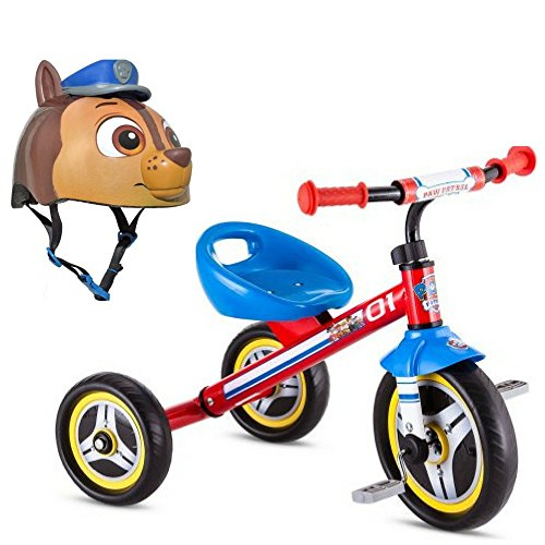 Nickelodeon Paw Patrol Ryder Tricycle and Bell Sports Paw Patrol Chase Toddler Multi-sport Helmet, Toddler Ride On Toys, Sports and Outdoor, Kids Active Play, Fun Activity and Adventure Gift Bundle by Nickelodeon Paw Patrol, Bell