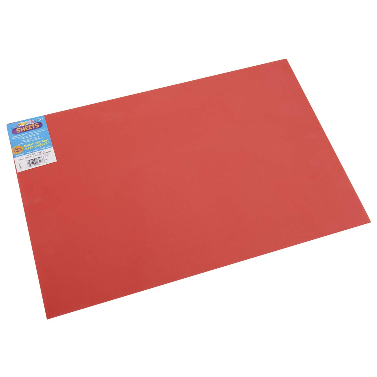 Darice Foamies Foam Sheet Red 2mm Thick 12 X 18 Inches (12 Pack)
