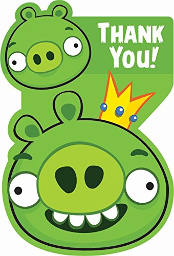 Angry Birds Thank You Notes w/ Envelopes