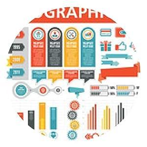 alfombrilla de ratón Elementos de Infographic 25 - ronda - 20cm