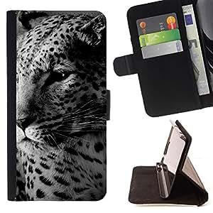 BullDog Case - FOR/Samsung Galaxy S3 III I9300 / - / leopard cute furry beast animal spots /- Monedero de cuero de la PU Llevar cubierta de la caja con el ID Credit Card Slots Flip funda de cuer