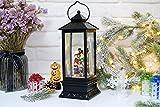 Wondise Lighted Music Snow Globe Lantern with 6