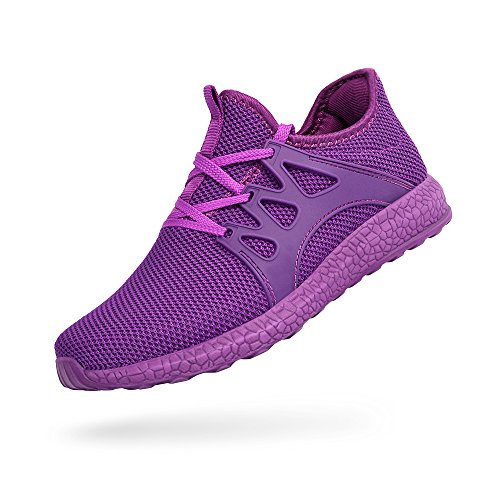 Troadlop Womens Fashion Sneakers Ultra Lightweight Knitted Running Shoes Athletic Casual Walking, Purple-5.5 US