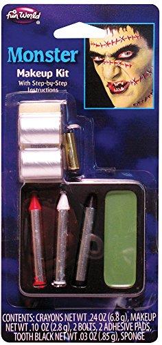 Fun World Unisex-Adult's Frankenstein Monster Makeup Kit, Multi,