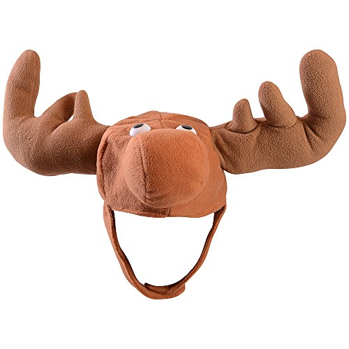 Velvet Moose Hat - Crazy Velvet Moose Novelty Costume Hat (Halloween Costumes Canada)