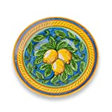 italy pasta bowl - Umbria Hand Painted Limone Ceramic Pasta Bowl from Italy