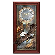 Ted Blaylock Majestic Flight Bald Eagle Wall Clock by The Bradford Exchange