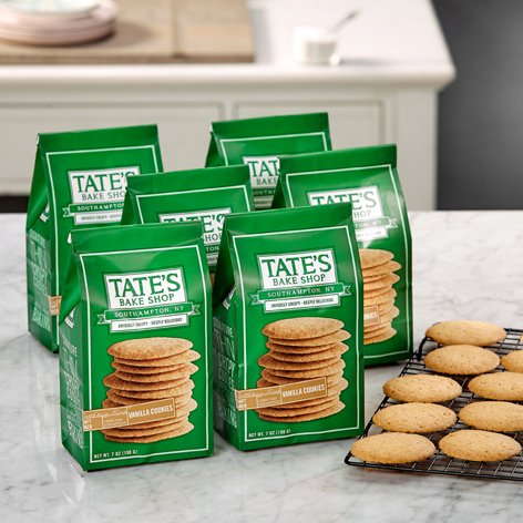 Luscious Bake Shop - Tate's Bake Shop 6 Pack Vanilla Cookies Tate's Exclusive