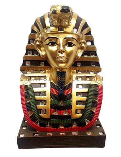 ANCIENT EGYPTIAN PHARAOH KING TUT BUST MASK 6