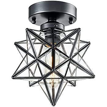 Axiland industrial moravian star ceiling light with 8 inch glass axiland industrial moravian star ceiling light with 8 inch glass shade 1 light aloadofball Image collections