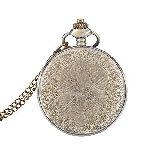 ZJZ Ny fickur vintage rund liten fickur hänge halsband klocka presenter