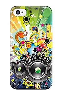 Durable Protector Case Cover With Music Hot Design For Iphone 4/4s
