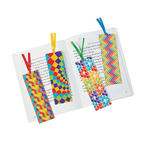 Laminated Optical Illusion Bookmarks - Stationery - Bookmarks - Bookmarks - 48 Pieces