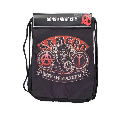 Sons Of Anarchy Mens Samcro Backsack  Black  One Size