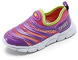Bumud Boy's Girl's Mesh Light Weight Sneakers Running Shoe (9 M US Toddler, Purple)