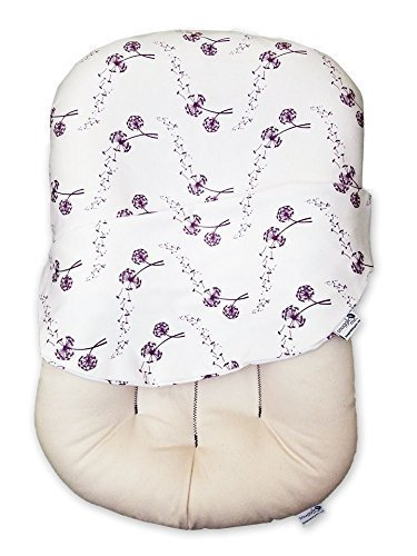 Snuggle Me Organic | Patented Sensory Lounger for Baby | Organic Cotton, Virgin Fiberfill