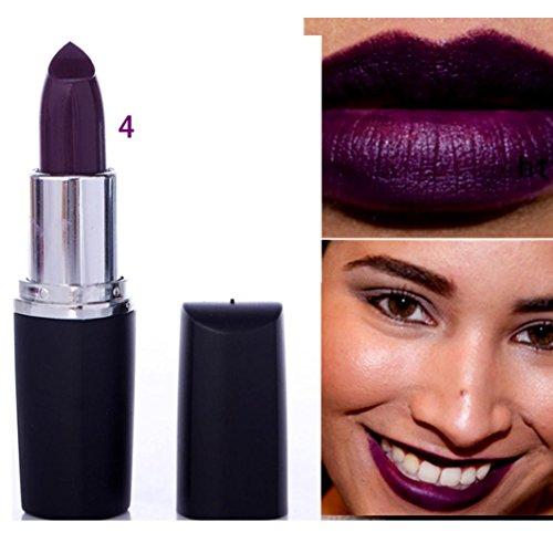 SMYTShop Vampire Style 8 Colors Waterproof Long Lasting Lipstick (Dark Purple)